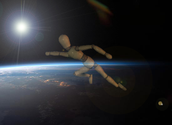 Projetor saindo da Terra