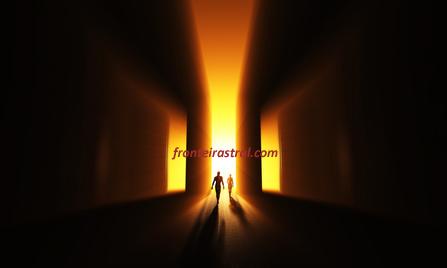 Gehe ins Licht - Gold Gelb